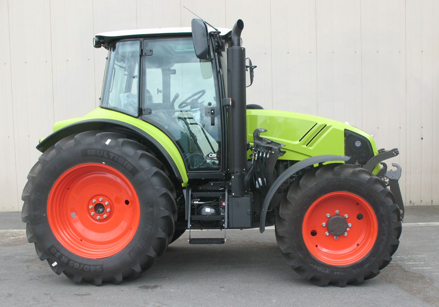 Claas Arion 420 CIS tractor / MX R28 front linkage (side)